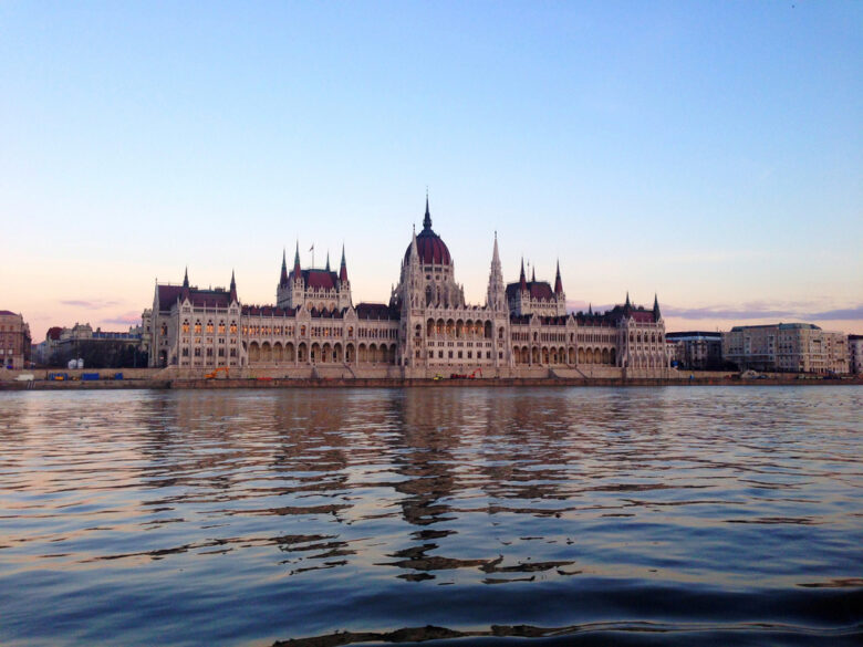 Parliament Building in Budapest from the Danube River