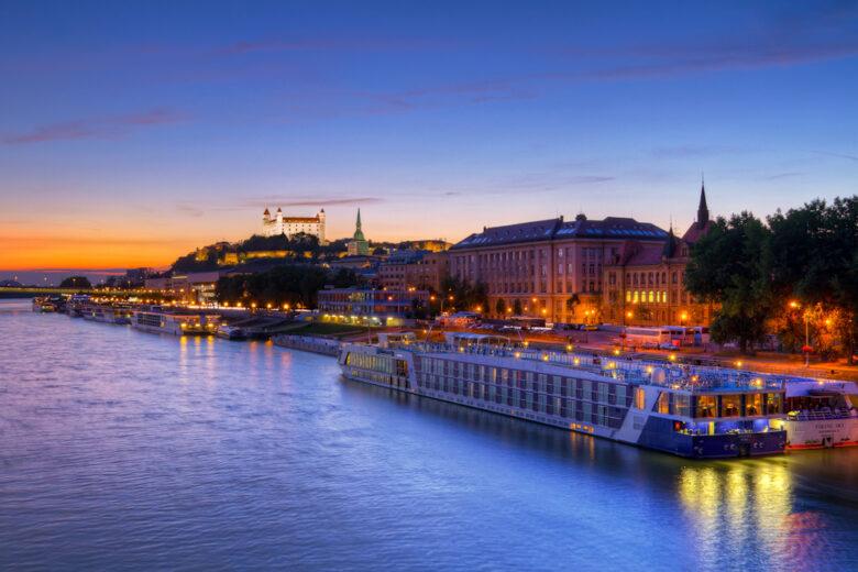 Ships on the Danube River